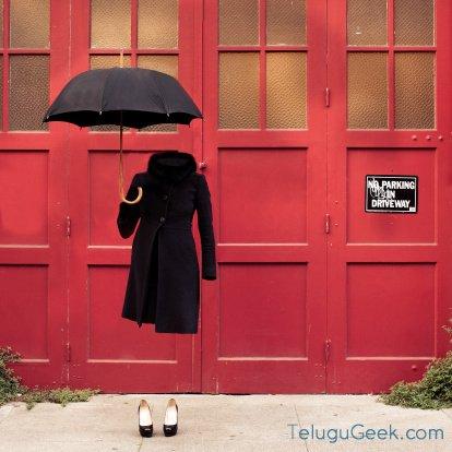 గొడుగు కాని గొడుగు ఈ మాయ గొడుగు – the invisible umbrella