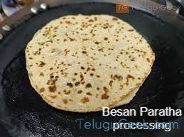 Besan paratha process